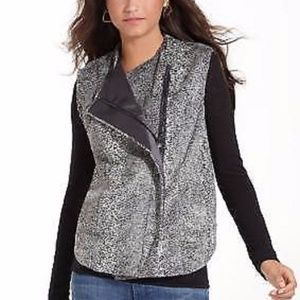 RACHEL ROY Heart of Darkness Faux Fur Vest M